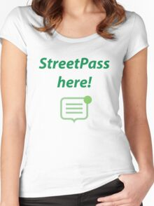 StreetPass here! Women's Fitted Scoop T-Shirt