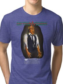 Say You Love Satan 80s Horror Podcast - Scanners Tri-blend T-Shirt