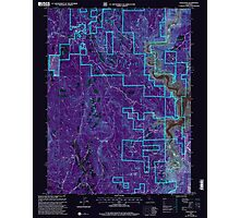 USGS TOPO Map California CA Challenge 100026 2000 24000 geo Inverted Photographic Print