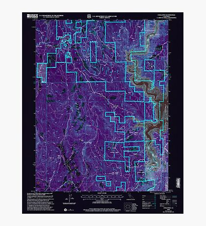 USGS TOPO Map California CA Challenge 100026 2000 24000 geo Inverted Photographic Print