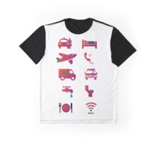 Travel Icons Graphic T-Shirt
