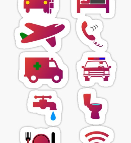Travel Icons Sticker