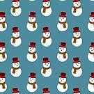 Blue Snowman Pattern by SaradaBoru