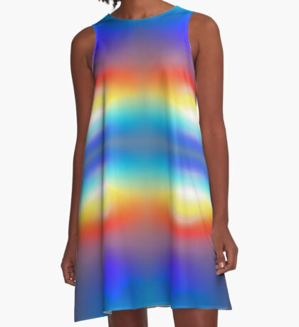Sunset Abstract one A-Line Dress