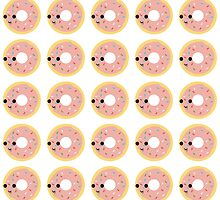 Pink glazed donut pattern by Eggtooth
