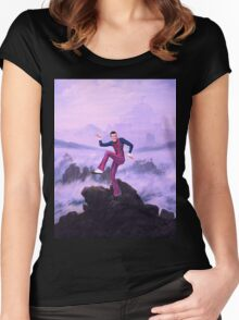 We are number one but it´s Wanderer above the Sea of Fog Women's Fitted Scoop T-Shirt