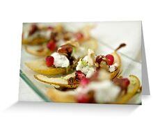 Pear Hazelnut Flotilla Greeting Card