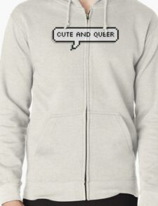 Cute And Queer Bubble Zipped Hoodie