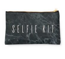 Selfie Kit Dark Marble Makeup Bag Studio Pouch