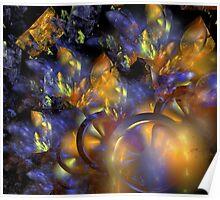 Autumn Blue Sun Poster