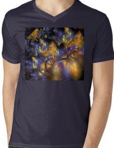 Autumn Blue Sun Mens V-Neck T-Shirt