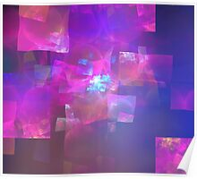 Pink Glass Cubes Poster