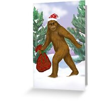 Bigfoot Santa Greeting Card