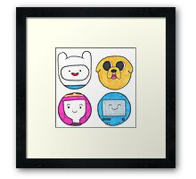 Adventure time bubbles Framed Print