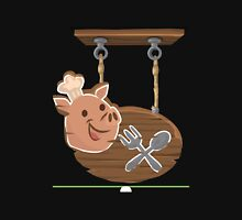 Glitch furniture ceilingdeco chef pig eatery sign Unisex T-Shirt
