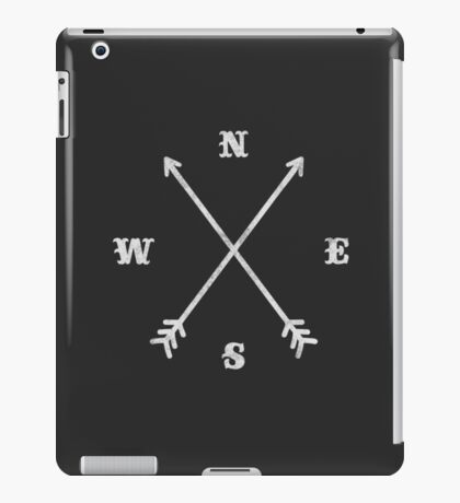 Hipster Crossed Arrows - Compass (NSEW) iPad Case/Skin