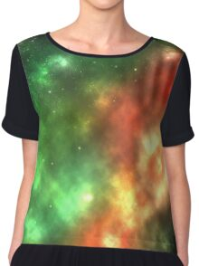 Galaxy nebula shining stars and gas clouds Chiffon Top