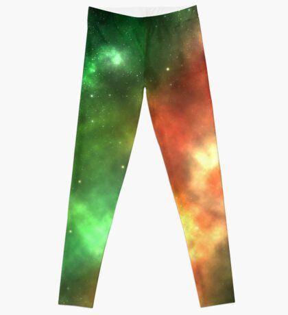 Galaxy nebula shining stars and gas clouds Leggings