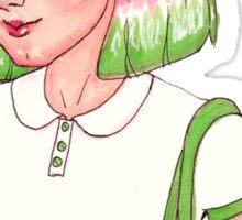 3 Marker Challenge: Watermelon Girl Sticker