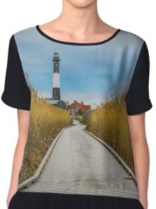 Towards The Lighthouse | Fire Island, New York Chiffon Top