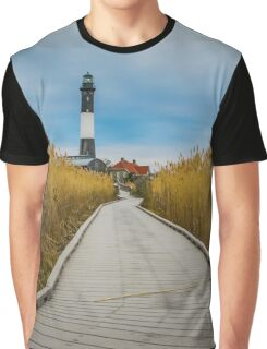 Towards The Lighthouse | Fire Island, New York Graphic T-Shirt