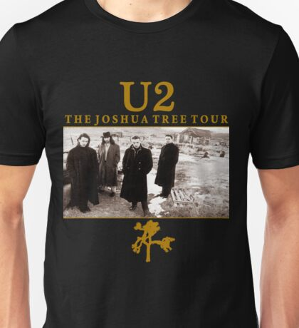 THE JOSHUA TREE TOUR 2017 BROWN HITAM Unisex T-Shirt