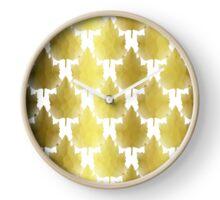 Golden Maple Leaves Clock