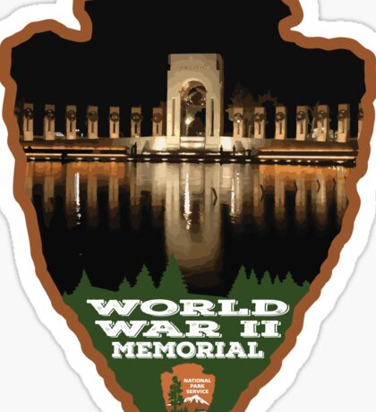 World War II Memorial Arrowhead Sticker