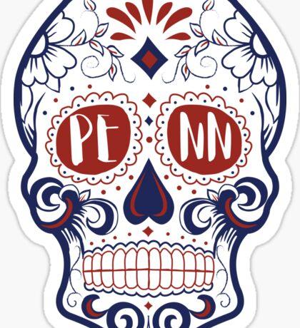 UPenn sugar skull Sticker