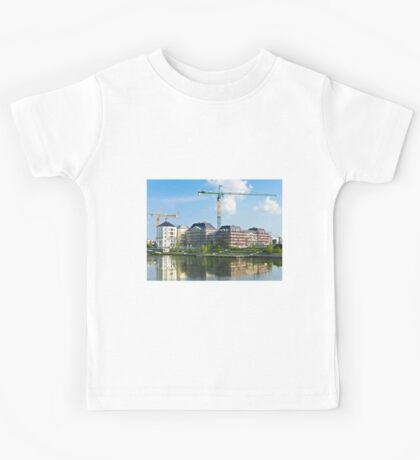 Panoramic view of a building construction Kids Tee