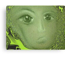 Green with...... Canvas Print