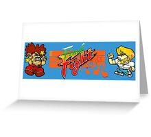Final Fight (Chibi Art) Greeting Card