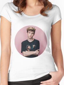 Troye Sivan Crown Cricle Women's Fitted Scoop T-Shirt