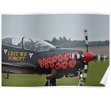 lest we forget at duxford Poster