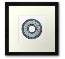 Barbell Weight Framed Print