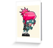 Female zombie cartoon Greeting Card