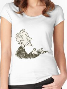 may be dunno Women's Fitted Scoop T-Shirt