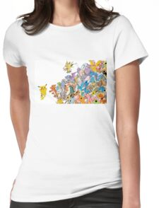 all poke 1 Womens Fitted T-Shirt