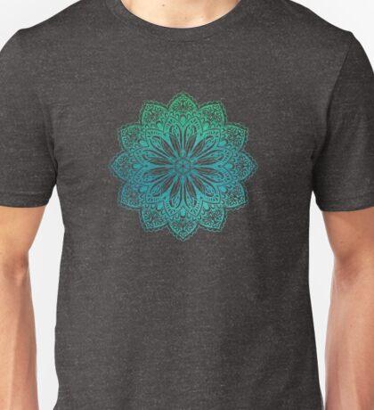 Turquoise Watercolor Etched Mandala  Unisex T-Shirt