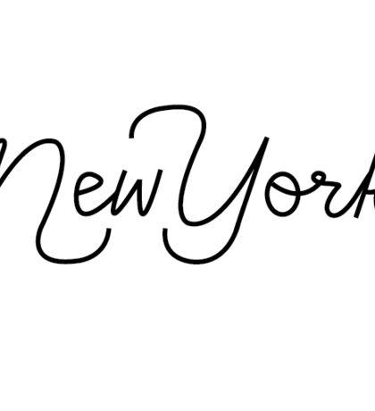 Handlettering   New York Sticker