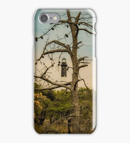Lighthouse Behind An Spooky Tree | Fire Island, New York iPhone Case/Skin