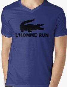 L'Homme Run Mens V-Neck T-Shirt