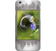 Clerodendrum Ugandense or Blue Butterfly Bush iPhone Case/Skin