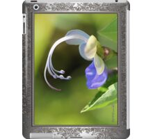 Clerodendrum Ugandense or Blue Butterfly Bush iPad Case/Skin