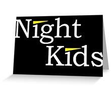 Night Kids Greeting Card