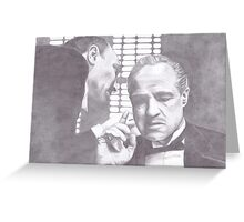 The Godfather - Don Corleone Greeting Card