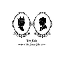 Two Sides of the Same Coin (black) Photographic Print