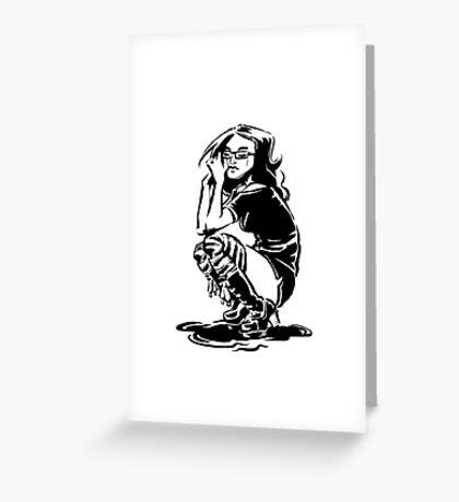 Lady Crow Greeting Card