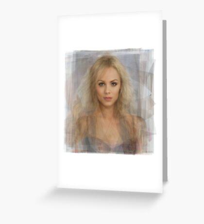 Laura Vandervoort Portrait Greeting Card