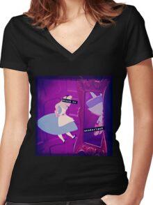 Stuck in Wonderland Women's Fitted V-Neck T-Shirt